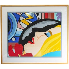 Bedroom Face with Lichtenstein Signed Tom Wesselmann Numbered 5/60 1997