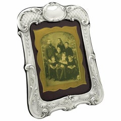 Antique English Sterling Silver Photograph Frame
