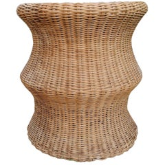Mid-Century Modern Wicker Stool or Side Table by Eero Aarnio for Stendig, 1960s
