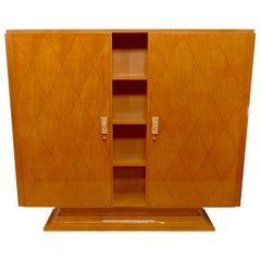 Blonde Art Deco Cabinet in Maple, France 1930s