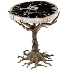Quercia Coffee Table with Wood Fossil Top