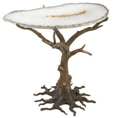 Quercia Coffee Table with Agate Top