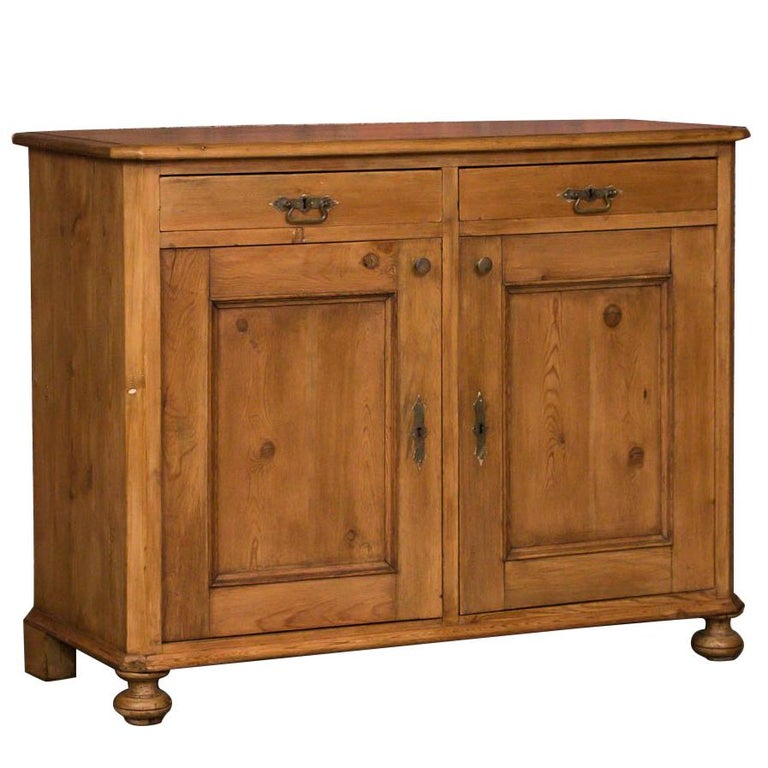 Knotty Pine Kitchen Cabinets For Sale: Knotty Pine French Country Primitive Sideboard Server