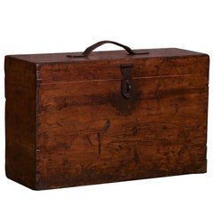 Antique English Pine Carrying Case