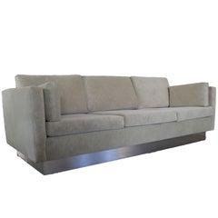Tuxedo Sofa in Milo Baughman Style