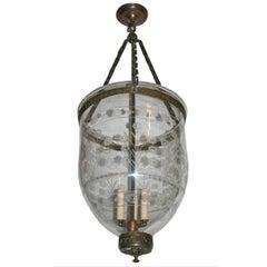 Large Italian Etched Lantern