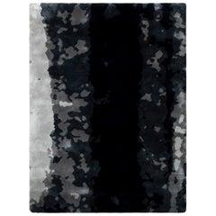 Brabbu Baltic Handgetufteter Gefärbter Wolle Teppich in Blautönen