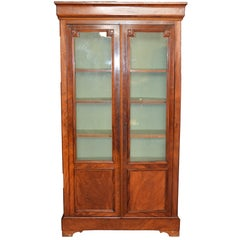 19th Century Rectangular French Bookcase in Louis Philippe Style, Walnut, 1950s