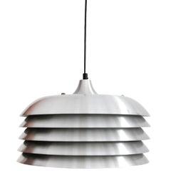 Aluminum Hans-Agne Jakobsson Ceiling Lamp for Markaryd, Sweden