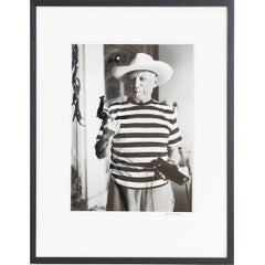 André Villers, Picasso with the Gun and Hat Offered by Gary Cooper Cannes, 1958