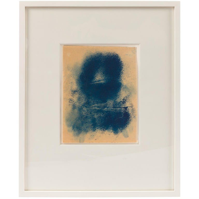 """Adja Yunkers """"Icon XX"""" Framed Oil on Paper, USA, 1970s"""