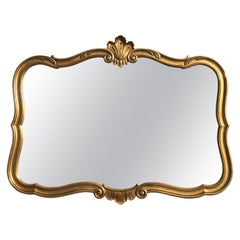 Gold Leaf Cartouche Mirror