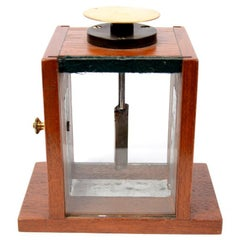 Condenser Electroscope Made of Mahogany Wood, Early 1900s