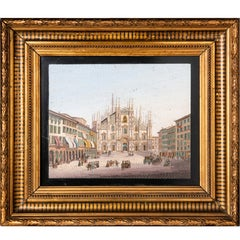 19th Century Grand Tour Micro Mosaic Milan Cathedral View Duomo Di Milano