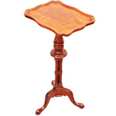 Antique 19th Century Mahogany Piecrust Wine Table