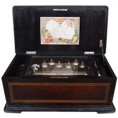 Height Airs Swiss Cylinder Music Box, circa 1880