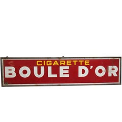 1950s French Boule D'or Cigarette Sign