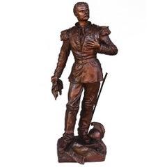 """""""The Estafette"""" Military Bronze Soldier by C. Anfrié"""