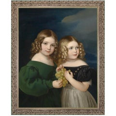 Little Friends, after Oil Painting by Neoclassical Revival Artist Franz Eybl