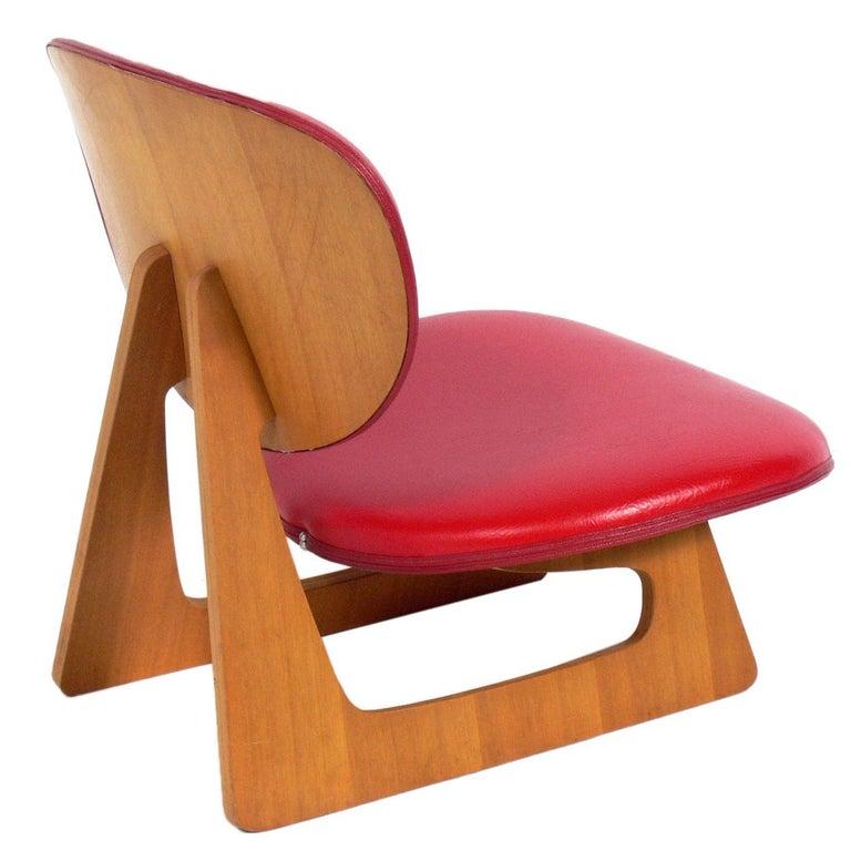 Sculptural Lounge Chair by Junzo Sakakura