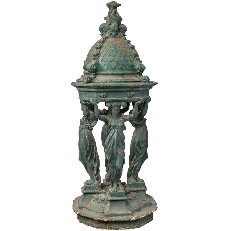 French Drinking Fountain Model by Charles Auguste Lebourg, France, 1872