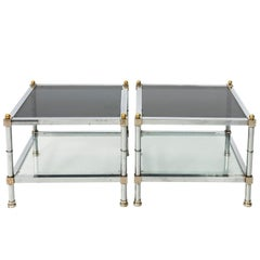 Pair of Mid-Century Modern Side Tables in the Manner of Jansen, circa 1970s