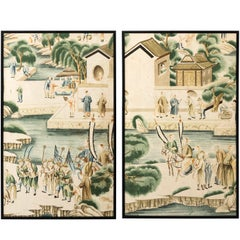 Pair of 19th Century Chinese Wallpaper Panels