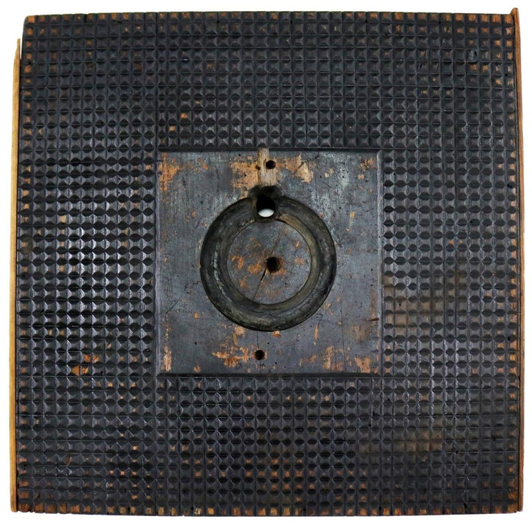 Antique Industrial Foundry Pattern for Mold Handmade Wood, Number 8 For Sale