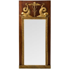 Late 19th Century Mahogany and Gilt Gothenburg Mirror