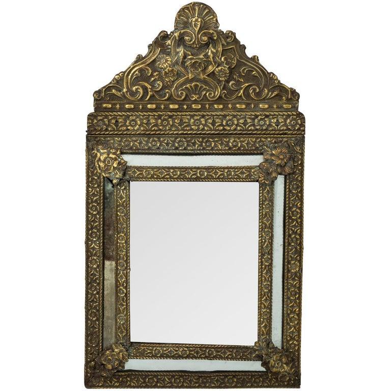 French Repousse Mirror, circa 1880s
