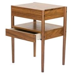 Chris Earl Mid-Century Modern Walnut Bedside Table