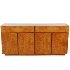 Mid-Century Modern Burl Cabinet or Credenza by Milo Baughman for Lane