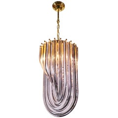 Triedri Curvati Murano Glass Chandelier by Carlo Nason for Venini, Italy