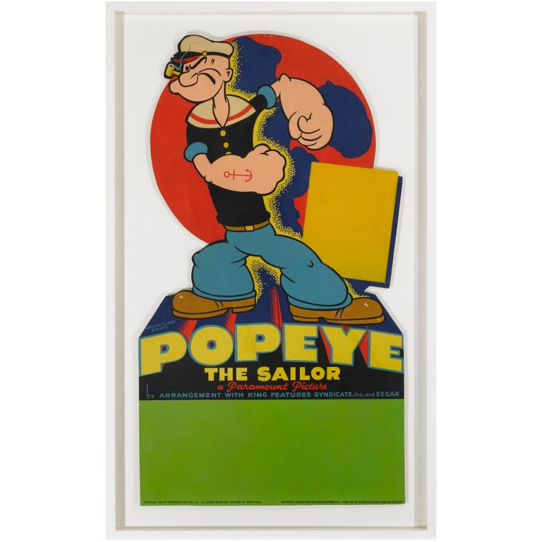 Popeye Framed Standee