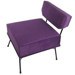 Midcentury Elettra's Style Italian Violet Armchair, 1950s