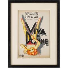 """""""Footlight Parade / Viva le Donne"""" Original Italian Film Poster"""