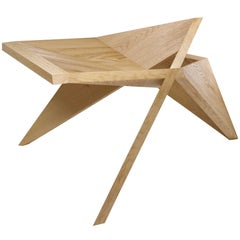 Tokyo Lounge Chair, Contemporary Handcrafted Wooden Lounge Chair