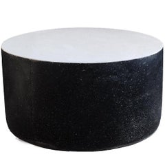 Black and White Coffee Table 'Millstone' by Zachary A. Design