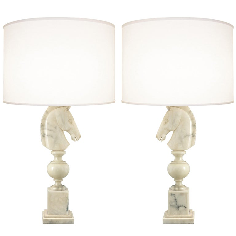 Pair of 1960s Italian Alabaster Lamps