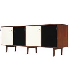 Florence Knoll Two-Tone Lacquer and Walnut Credenza