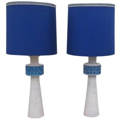 Pair of Italian Bitossi Style Large Table Lamps