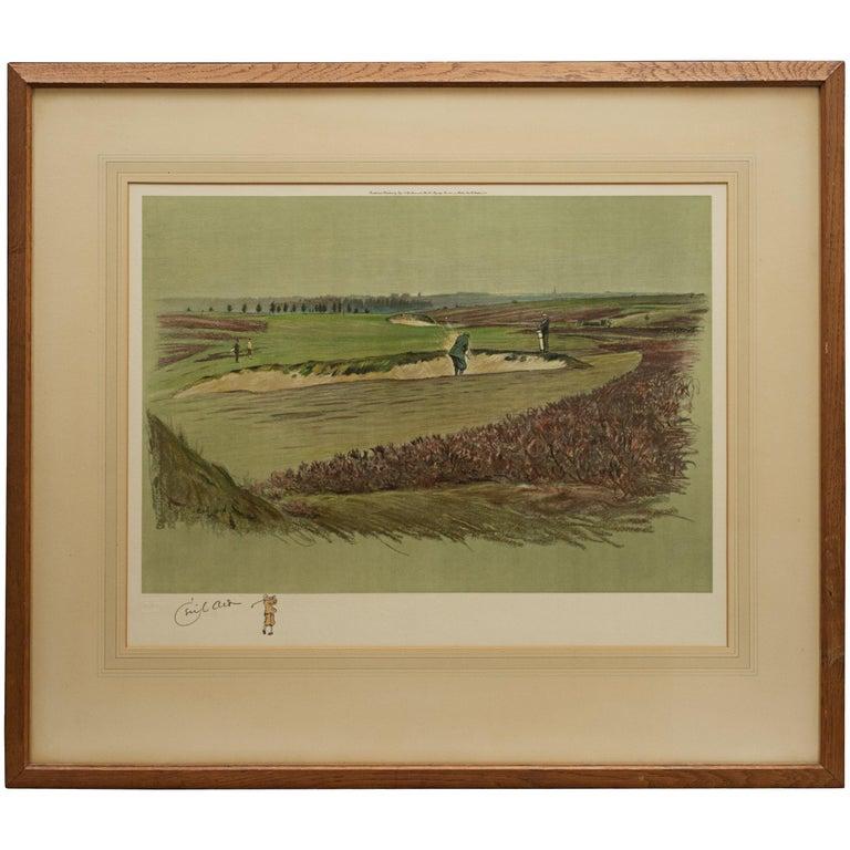 Antique Golf Print, Walton Heath-Old Course, Cecil Aldin