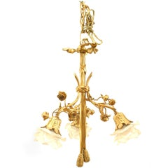 French Louis XVI Style Gilt Bronze Chandelier