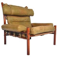 Midcentury Arne Norell Inca High Back Lounge