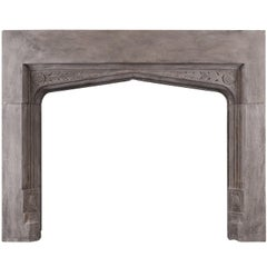 Stone Fireplace in the Gothic Manner
