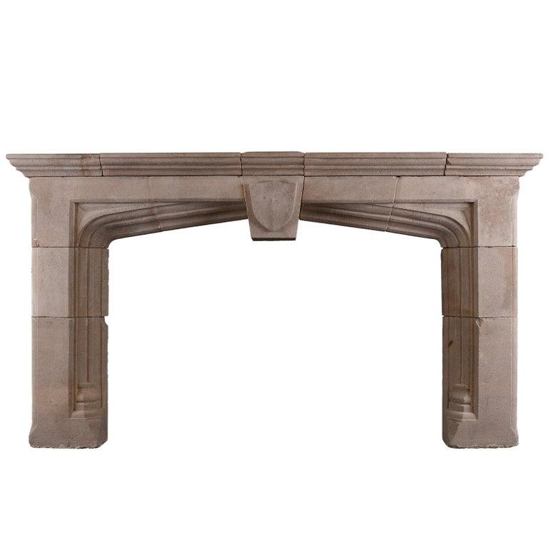 Impressive Bath Stone Gothic Fireplace For Sale