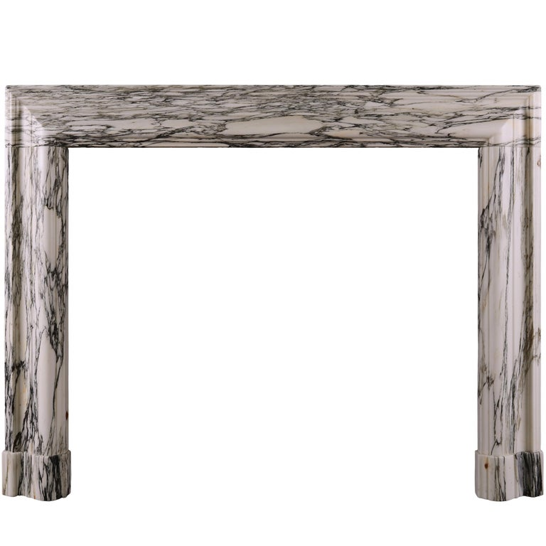 Striking Veined Marble Bolection Fireplace