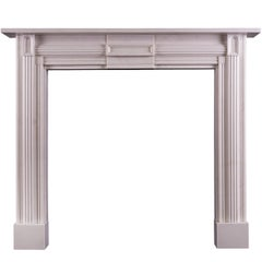 White Marble Fireplace in the Soanian Style