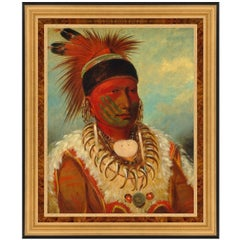 White Cloud, After Oil Painting by American Classical Artist George Catlin