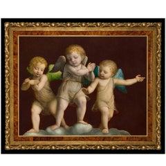 Three Putti, after Renaissance Oil Painting by Bernardino Luini